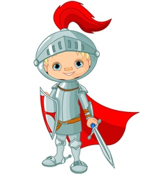 knight boy vector image
