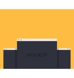 Mockup web page window design style vector