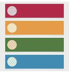Modern banners vector