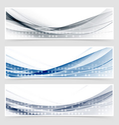 Modern dotted wave header collection vector