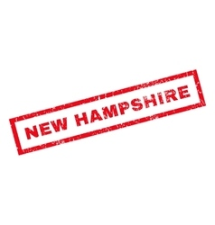 New hampshire rubber stamp vector