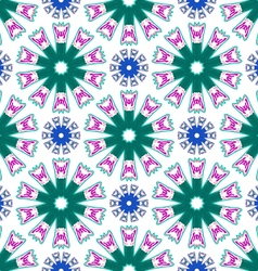 Pattern abstract flowers vector image vector image