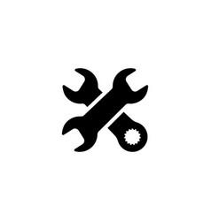 repair service icon flat design vector image