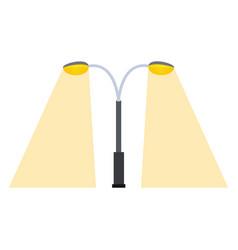 Street lamp silhouette retro metal object vector