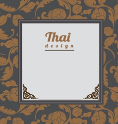 Thai Art Background Thai art pattern vector image vector image
