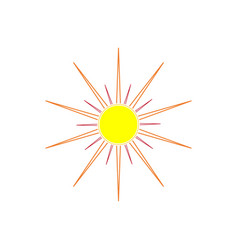 the sun sign on white background vector image vector image