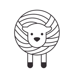 Wool roll with sheep vector