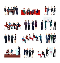 Business meetings set vector