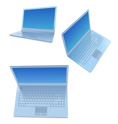 Silver laptops vector image