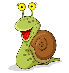 Smiling snail cartoon vector