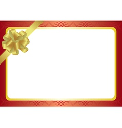 vintage frame with bow-knot vector image