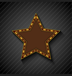 Billboard star sign on the on black background vector