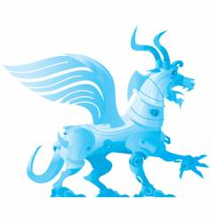 robot dragon vector image
