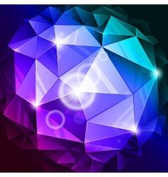 rumpled sphere vector image