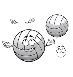 Cartooned smiling white volleyball ball vector