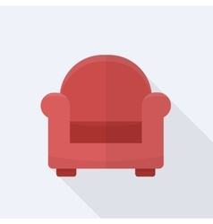 Single soft chair vector