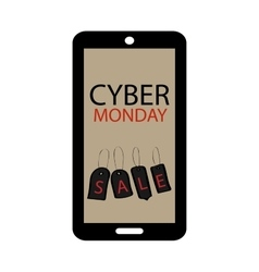 Cyber monday sale phone gadgets technology vector