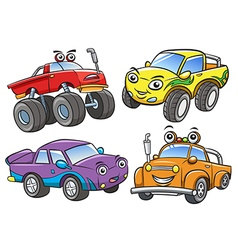 Cartoon the off road car vector