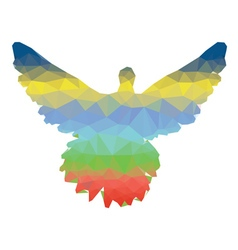 Colorful polygonal pigeon3 vector