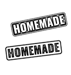 Two realistic homemade grunge rubber stamps vector