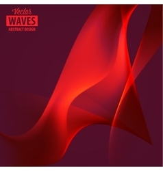 Abstract smooth color wave vector image vector image