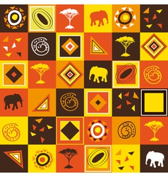 African seamless vector image
