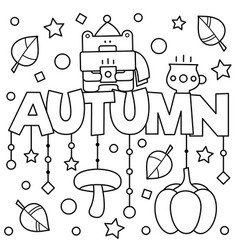 Black and white coloring page vector