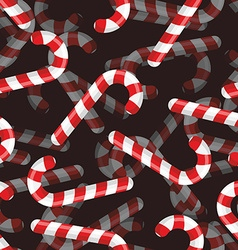 Christmas candy seamless pattern 3D background vector image vector image
