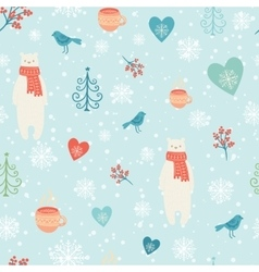 Christmas decoration background vector image vector image