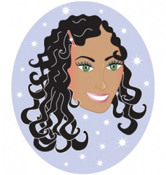 girl with wavy hair vector image vector image