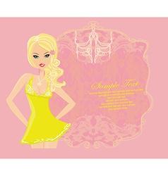 Glamor girl dancing poster card vector image