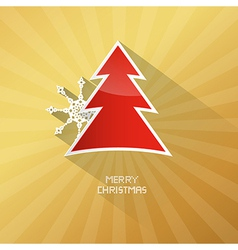 Gold abstract merry christmas background ith red vector