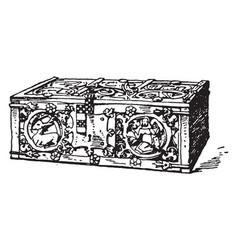 Gothic chest vintage vector