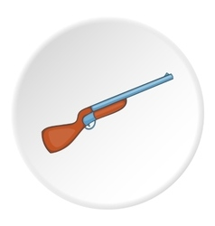 Hunting shotgun icon cartoon style vector