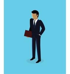 Isometric 3d businessman icon design vector