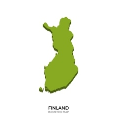 Isometric map of Finland detailed vector image vector image