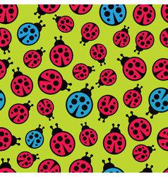 Ladybugs seamless background vector image vector image