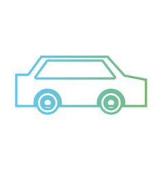 line normal car to transportation and modern style vector image vector image
