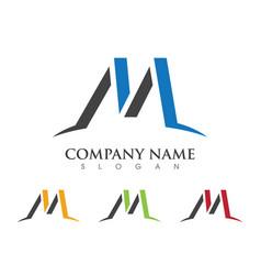 m letter logo template design vector image