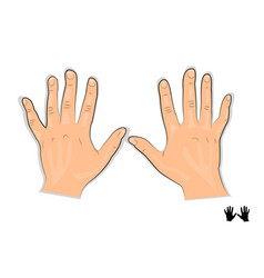 Men s hands vector