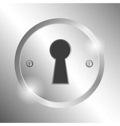 Metal keyhole vector image vector image