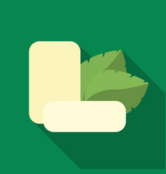 Mint chewing gum icon in flat style isolated on vector