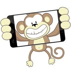 monkey selfie vector image
