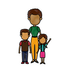 Mother with childrens together relation vector