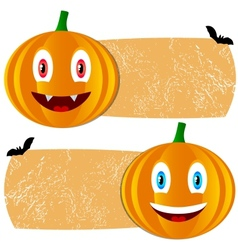 Orange halloween tags vector image