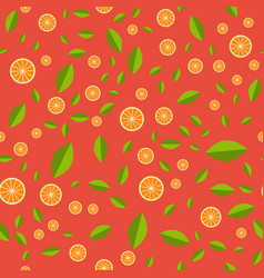 orange pattern seamless pattern with orange and vector image vector image