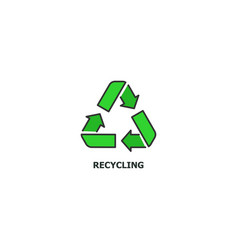 recycling concept icon in line design flat vector image