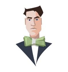 Rich man businessman luxury vector