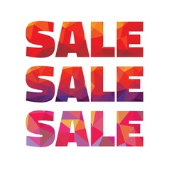 Sale - geometric abstract words vector image vector image