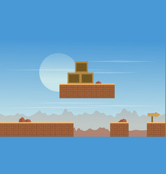 Scenery desert background for game vector